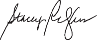 Stacey's signature